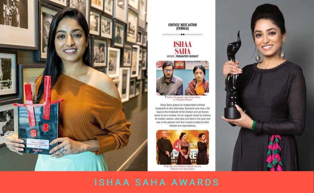 Ishaa Saha Awards