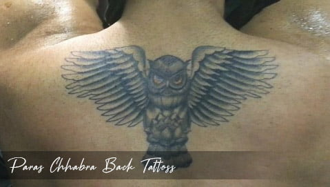 Paras Chhabra Back Tattoss