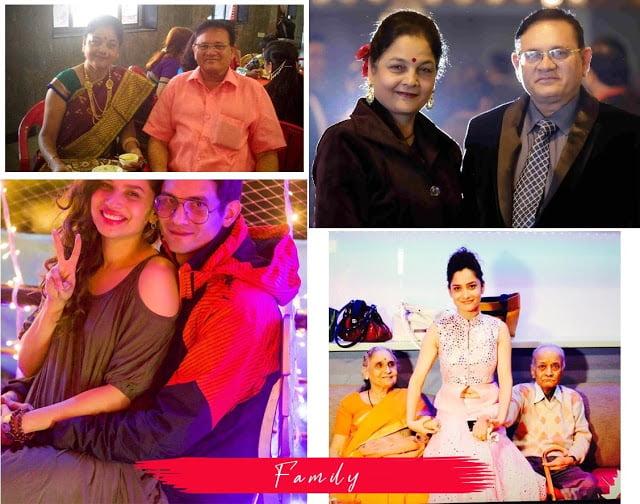 actress Ankita Lokhande family members