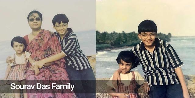 Saurav Das in childhood