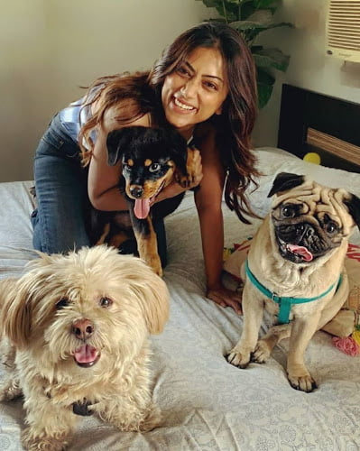 Anindita Bose dogs