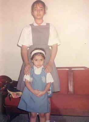 Bhumi Pedneker in childhood