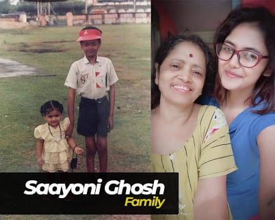 Saayoni Ghosh brother and family