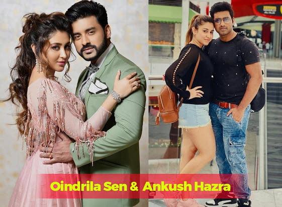 Oindrila Sen and her boyfriend Ankush Hazra