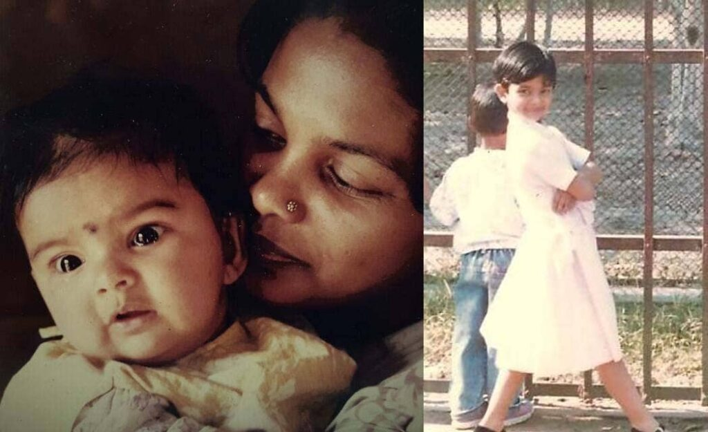 solanki roy mother and childhood photo