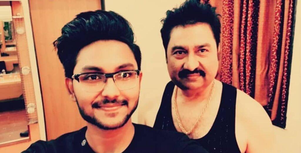 Jaan Kumar Sanu with his father Kumar Sanu