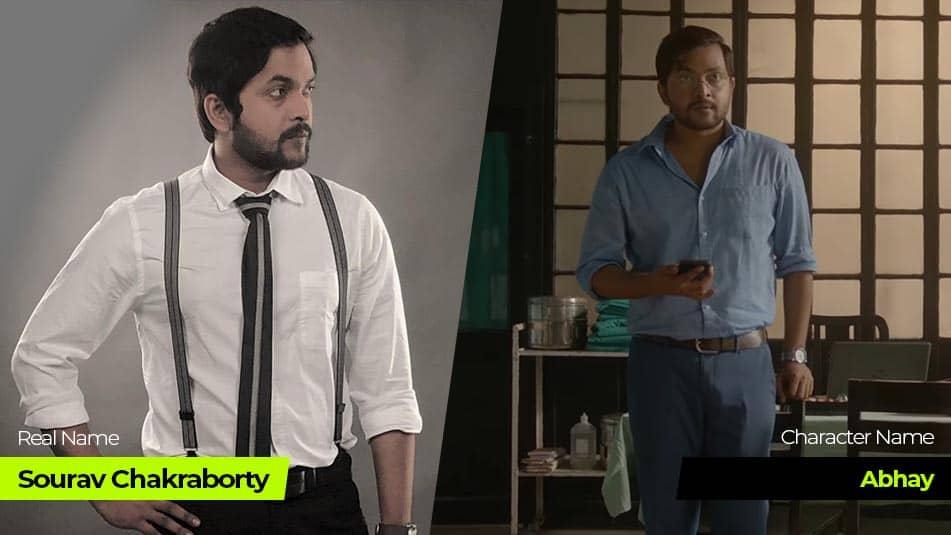 Charitraheen 3 actor Sourav Chakraborty or Abhay