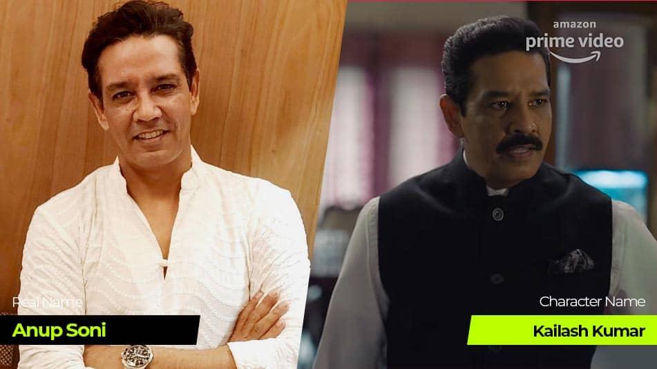Tandav Web Series cast Anup Soni