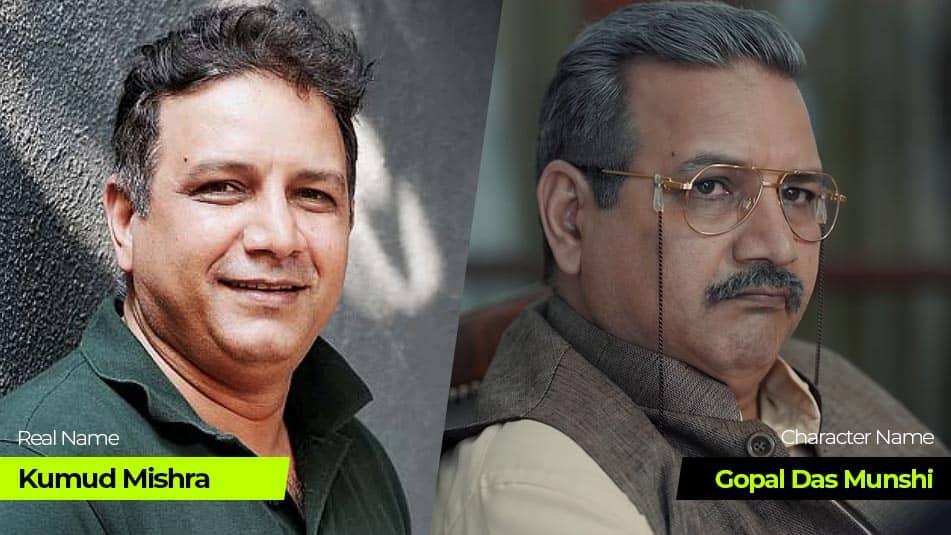 Tandav Web Series cast Kumud Mishra